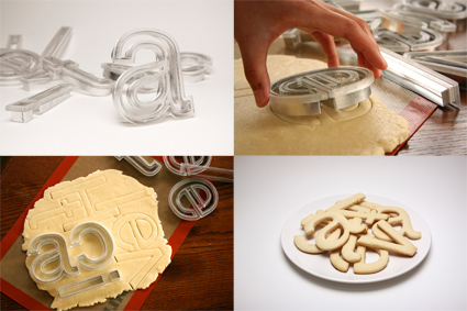 Helvetica Cookie Cutters by Beverly Hsu
