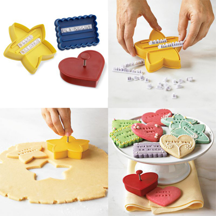 Message in a Cookie Cutters by Williams Sonoma