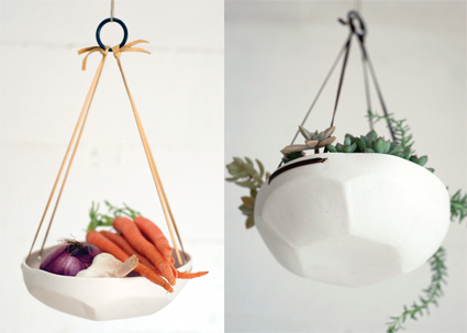 Faceted Hanging Tray by Pigeon Toe Ceramics