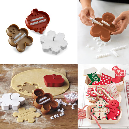 Message in a cookie holyday cookie cutters by Williams Sonoma